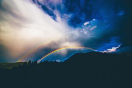 Picture of a double rainbow | Finding Hope After Child Loss | Blog Articles on healing after the losing a child | Get pregnancy and infant loss support at Evolve Counseling, LLC in Centennial, CO 80112
